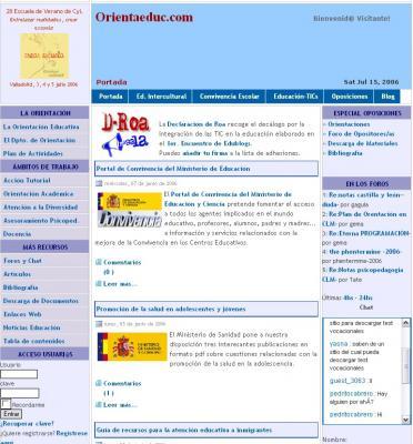 Página web de un orientador de Burgos